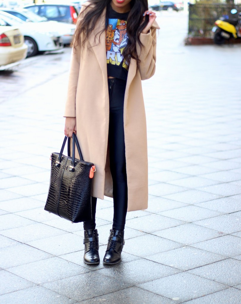 camel coat, mode Blog, fashion blog Germany, Germany fashion, disco pants, pauls boutique, fall weather style, fall outfits, camel coat,