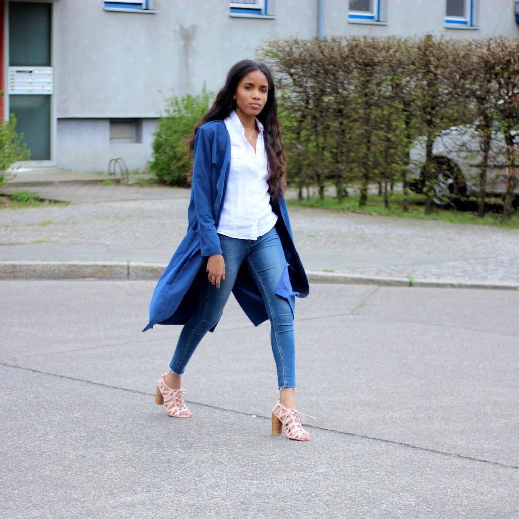 blauer Mantel, blauen Mantel, blue coat, spring coat, fashionblogger deutschland, Mode Blog Berlin, blue jacket