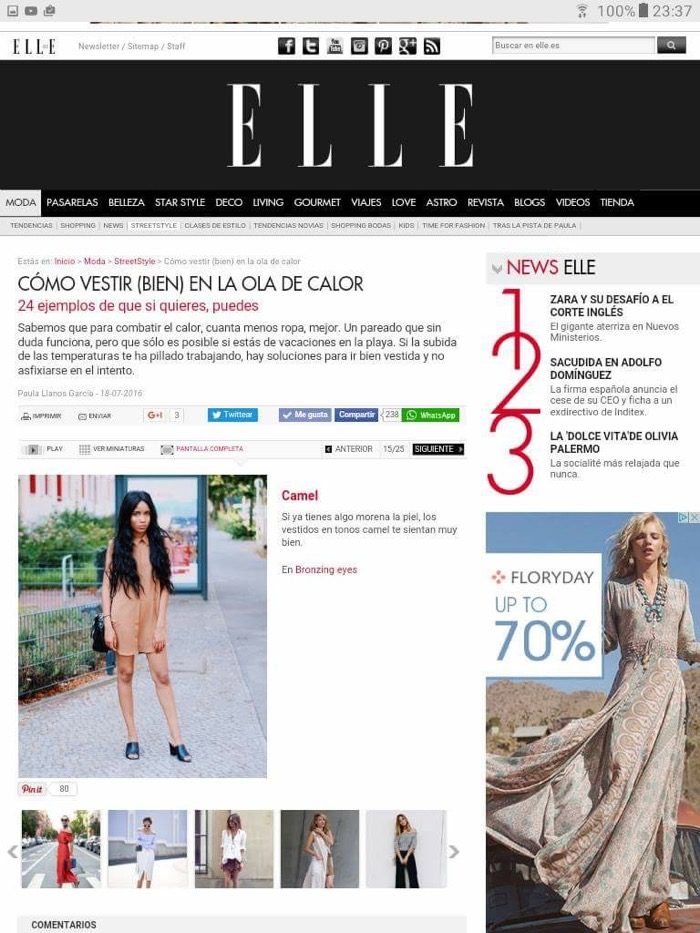 Elle Spain fashionblogger feature