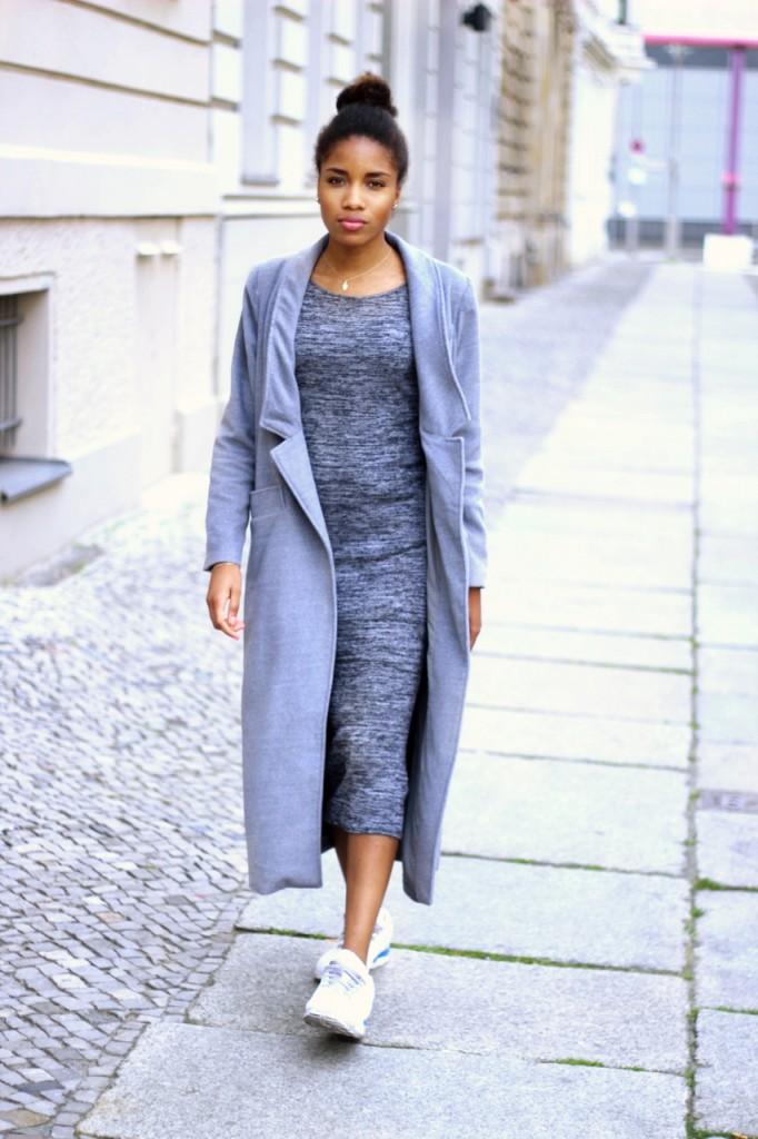Outfit Kim Kardashian All Grey Outfit Mode Blog Berlin Blogazine Fashion Blog Berlin