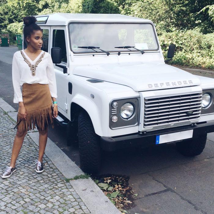 wildlederrock, modeblog, berlin, fashionblogger, fashionblogger, mode berlin, defender auto