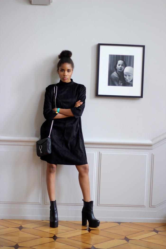 gina tricot berlin, das stue berlin, schwarzes Kleid