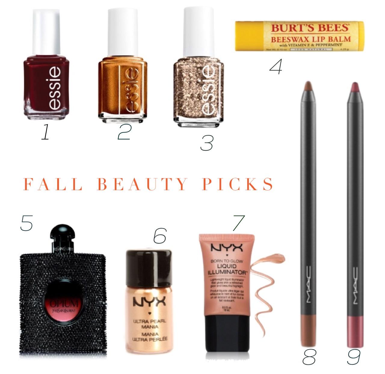 fall beauty picks