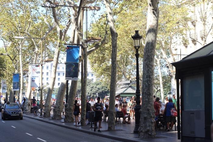 Barcelona shopping promenade