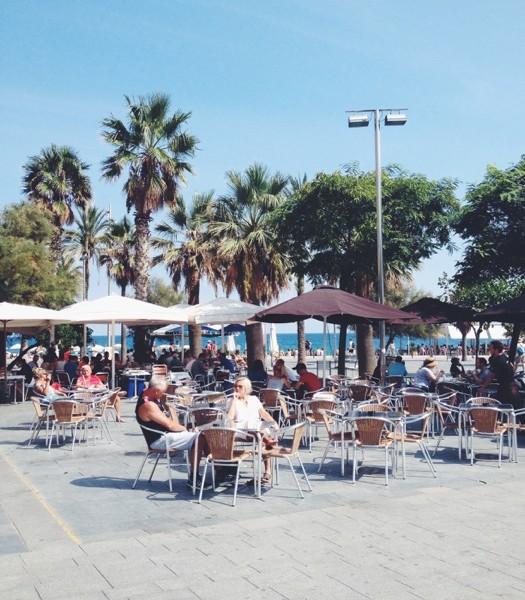 Barceloneta Strand Reiseblog Barcelona