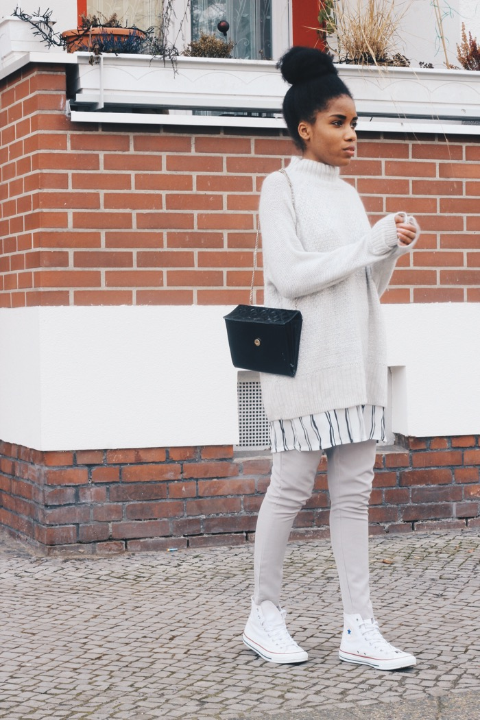 Lagenlook, Fashion Blog, Berlin Modeblog Berlin, Converse Schuhe, H&M Pullover