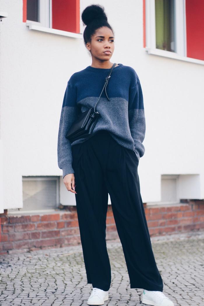 Modeblog Berlin, Fashion Blog Berlin, weite Hosen, kombinieren, Styling-Tipp: weite Hosen mit Turnschuhen