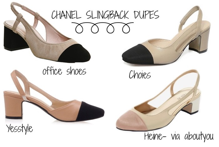 Chanel Slingback, Chanel Slingback dupes, Chanel Dlingback look a like, Chanel Slingback Pumps