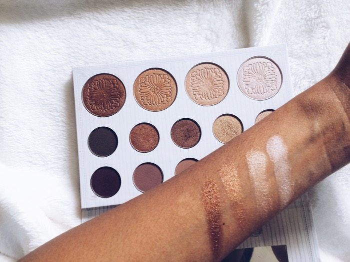 Carli Bybel Palette, Carli-Bybel-Palette Bh cosmetics Deutschland, swatches on dark skin,