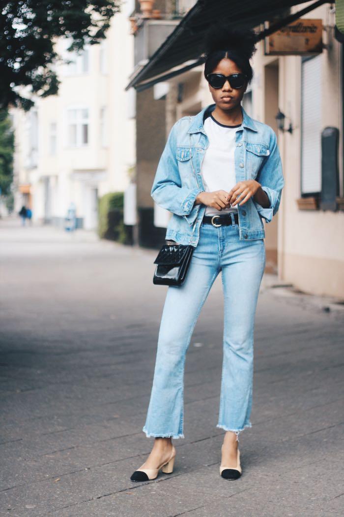 Jeansjacke jeanshose kombinieren