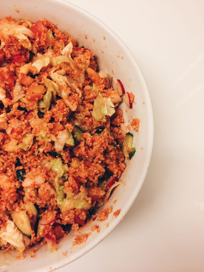Couscous Salat nach türkischer Art