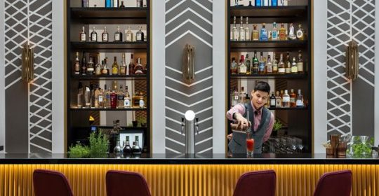 Art'otel Berlin Mitte, upside_down_bar_bartender_mix