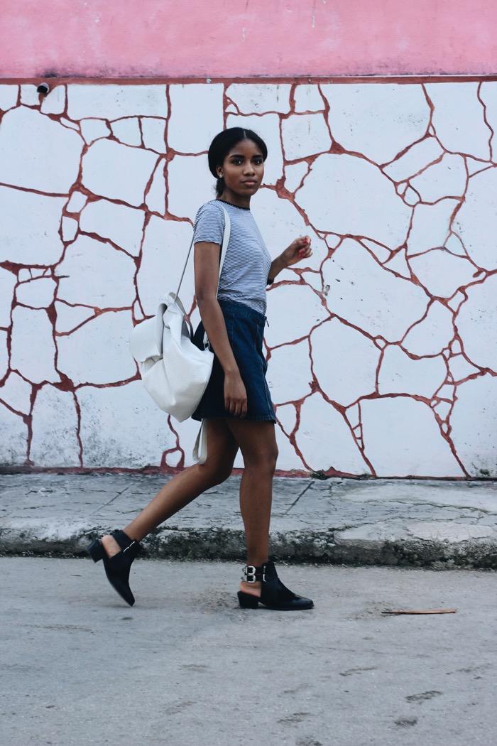 Fashion auf Cuba: Jeansrock und Bikerboots, Cuba Fashionblogger, cuban blogger, Influencer Germany, Modeblog Berlin, Cuban Models