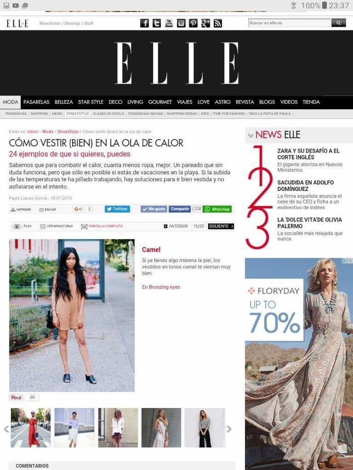 Elle Spain fashionblogger feature