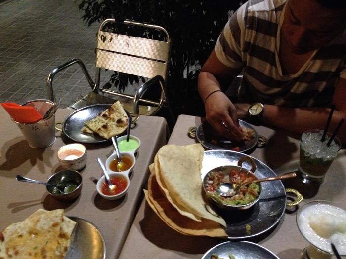 essen in barcelona indisches essen