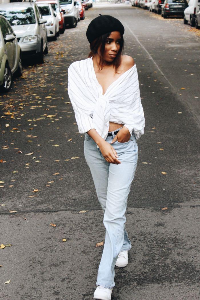 Baskenmütze, Influencer-Germany-Modeblog-Berlin-Frech-Girls-in-Berlin-Esprit-Mom-Jeans